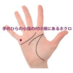 掌の小指の下の黒子占い