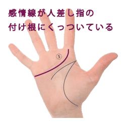 手相|感情線が人差し指につく|画像