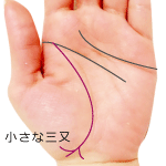 生命線の三又が小さい手相