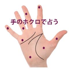 手相のほくろ・黒子紋