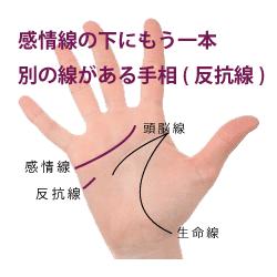 反抗線のある手相