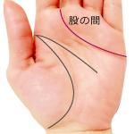 感情線が中指と人差指の股の間に入る手相