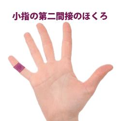 小指の第二間接にあるほくろ占い