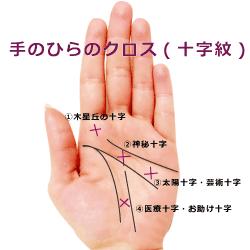 手相のクロス.十字紋