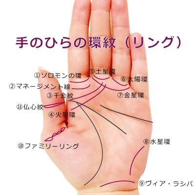 手のひらのリング.環紋