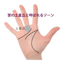 手のjひらのサターン