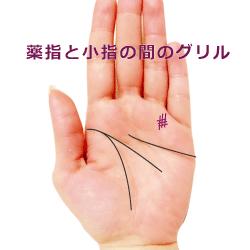 薬指と小指の間のグリル