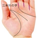 三本川の字のある手相