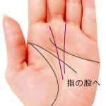 指の股に向かう運命線