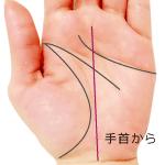 手首から伸びる運命線
