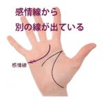 感情線の枝分かれ(5)起点の上下に別の支線が出ている手相(ユーモア線・機知線)