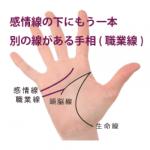 感情線の下にもう一本別の線がある手相-その1(職業線・キャリアウーマン線)