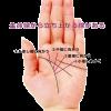 ラッキーな手相4 生命線から指に向かって立ち上がる線(努力線・努力開運線)がある手相