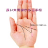 ラッキーな手相14 薬指に向かって伸びる「太陽線」が長い
