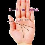 人差し指の下(木星丘)に縦線がある手相(リーダー線・指導線)