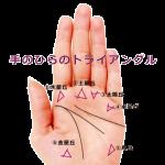 【手相紋占い5】手のひらにトライアングル△(三角紋)がある手相