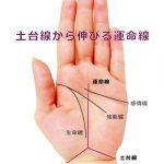 運命線の起点で占う9-手首の上の三角形(土台線)から運命線が伸びる手相