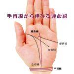 運命線の起点で占う8-手首線から運命線が伸びる手相