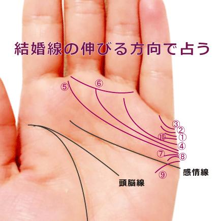 結婚線が上向きか、下向きかで占う手相(10種)