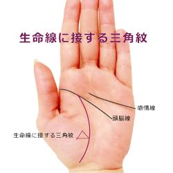 生命線に接する三角紋トライアングル