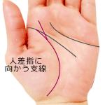 生命線から人差指に伸びる支線がある手相