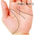 頭脳線から運命線が伸びる手相