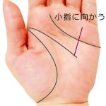 頭脳線の支線が小指に向かう手相