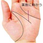 頭脳線の支線が薬指に向かう手相
