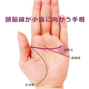 頭脳線が小指の下の水星丘に向かう手相の見方