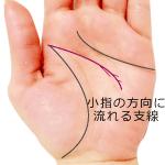 頭脳線の細かい細い支線が小指側に流れる手相